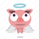 angel, animal, pig icon