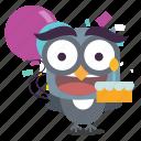 bird, birthday, twitter icon