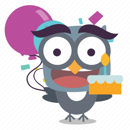 bird, birthday, twitter icon