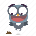 bird, scared, twitter icon