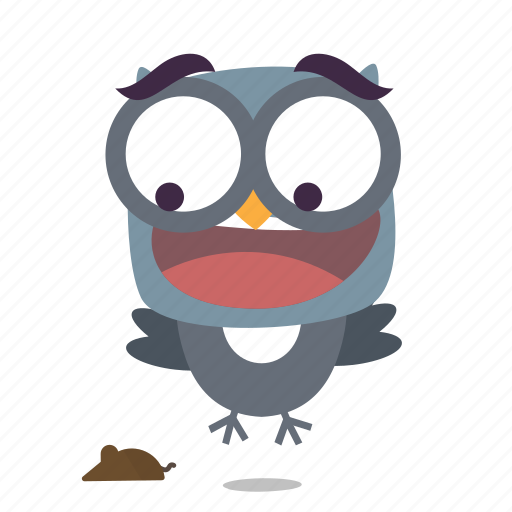 bird, scared, twitter icon