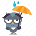 bird, emoji, winter icon