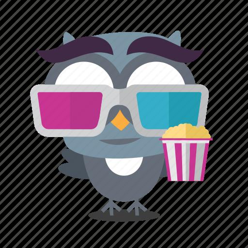 emoji, movie, popcorn icon
