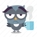 bird, coffee, emoji icon