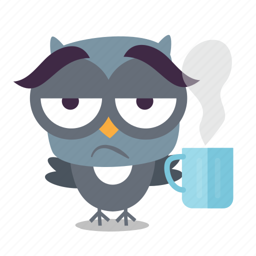 bird, coffee, emoji icon