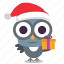 bird, christmas, gift icon