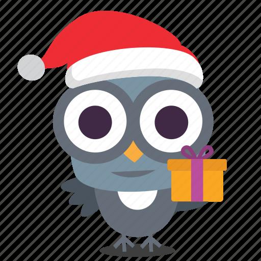 bird, christmas, gift icon