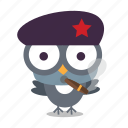 bird, cigar, revolution icon