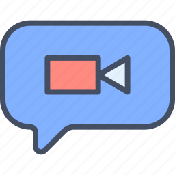 camera, message, multimedia, video icon