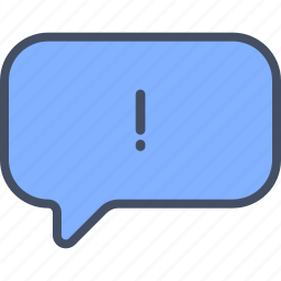 chat, important, message, warning icon