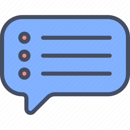 chat, list, message, text icon