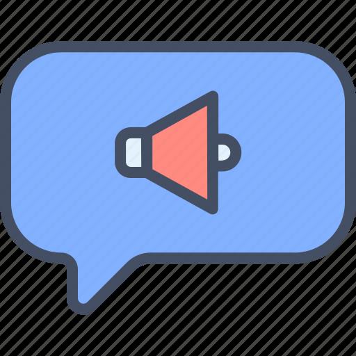 message, public, share, sound icon