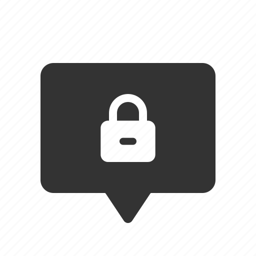 chat, encrypted, locked, message, messenger, secured icon