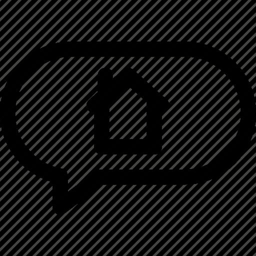 Comment, conversation, description, house, text icon - Download on Iconfinder