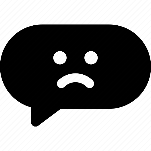comment, conversation, frown, sad, text icon