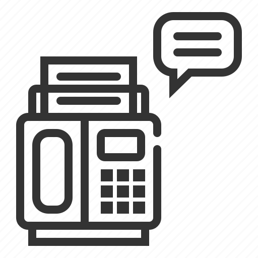 bubble, communication, fax, message icon