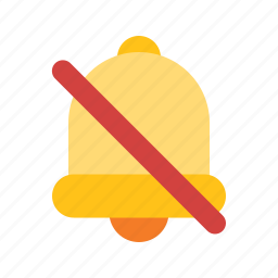 alarm, alert, bell, mute, notification, off icon