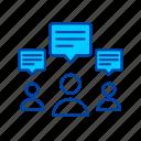 comments, message, communication, interaction