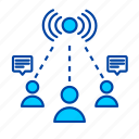 connection, network, communication, interaction