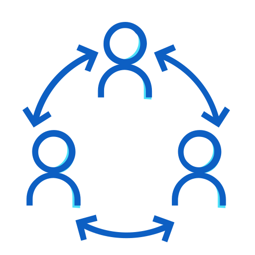 connecting, people icon