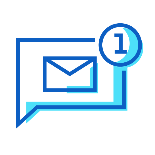 chat, message, one icon