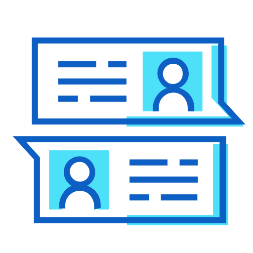 chat, profile, profiles icon