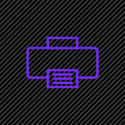 data, doc, document, files, paper, printer icon