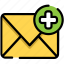add, email, create, message icon