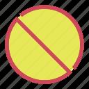 abort, block, cancel, stop icon icon
