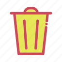 bin, delete, recycle, remove, trash icon icon