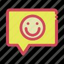 chat, emoticon, messenger, smiley icon icon