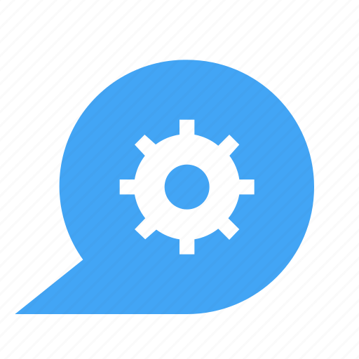 bubble, chat, chatting, configuration, gear, message, settings icon