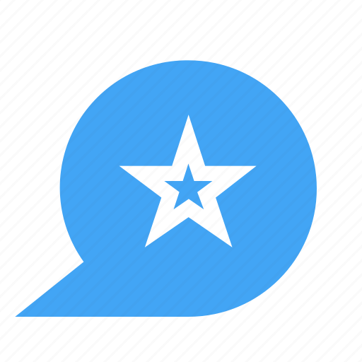 bubble, chat, chatting, favorite, message, star icon
