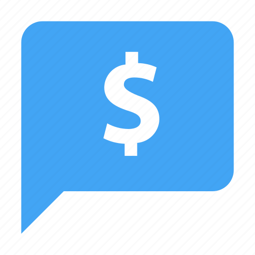 bubble, chat, chatting, dollar, message, money icon