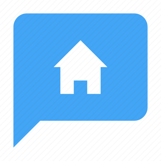 bubble, chat, chatting, home, house, message icon