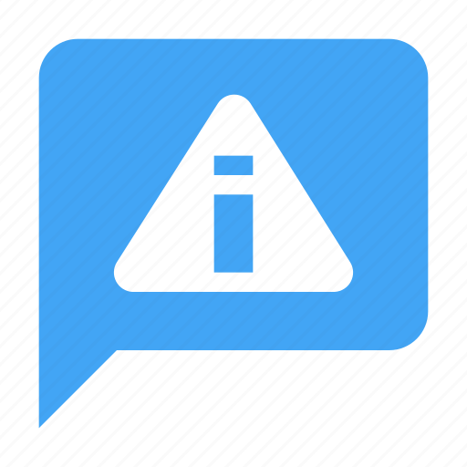 alert, bubble, chat, chatting, message, warning icon