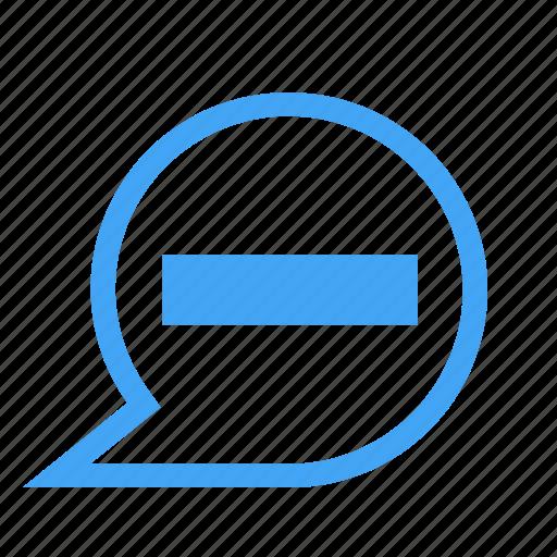bubble, chat, chatting, message, minimize, minus icon