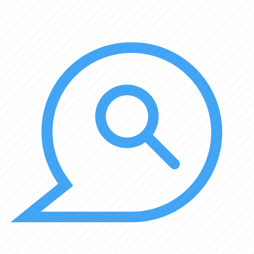 bubble, chat, chatting, message, search icon