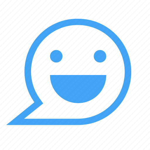 bubbles, chat, chatting, face, message, smile icon