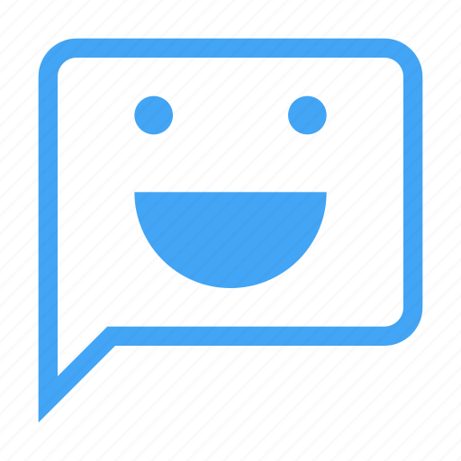 bubble, chat, chatting, face, message, smile icon