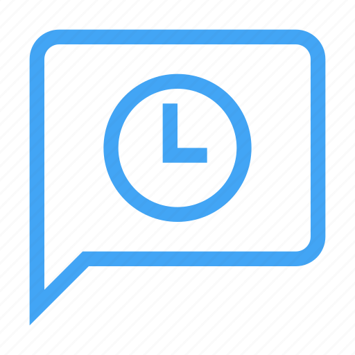 alarm, alert, bubble, chat, message, pending, scheduled icon