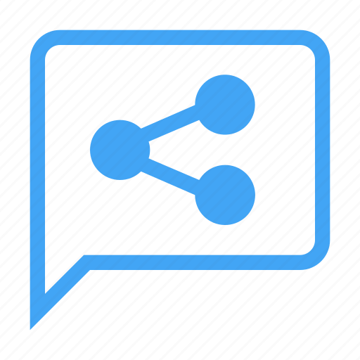 bubble, chat, chatting, message, share icon