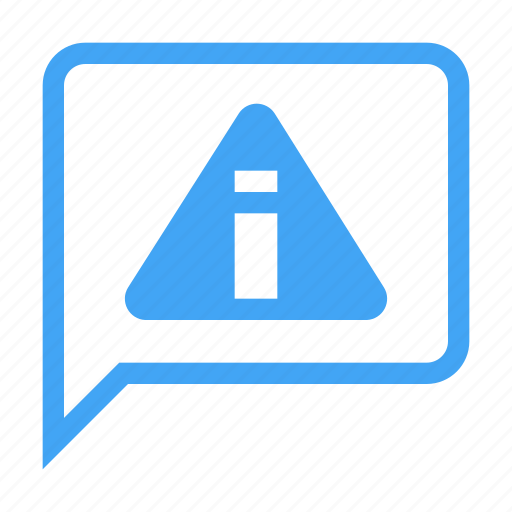 alert, bubble, chat, chatting, conversation, message, warning icon