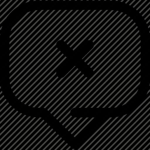 bubble, chat, decline, delete, information, message icon