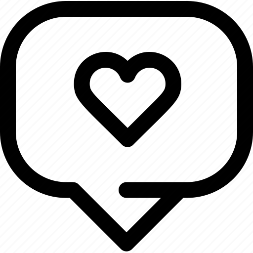 bubble, chat, information, like, love, message icon