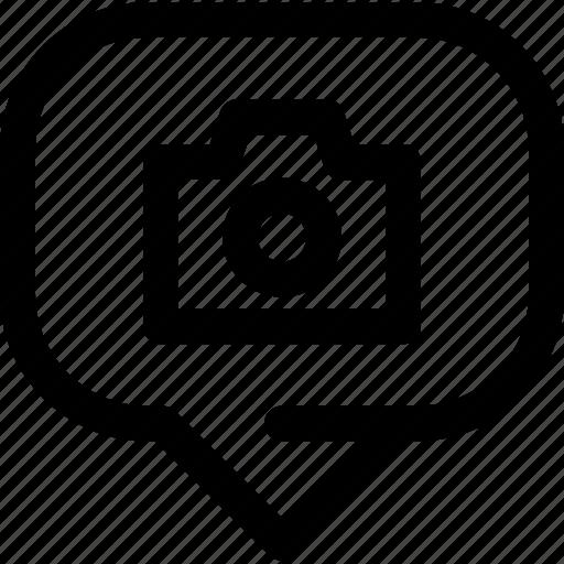 bubble, capture, chat, information, message, photo icon