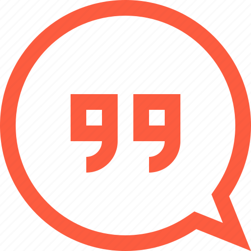 bubble, chat, citation, excerption, message, quote, speech icon