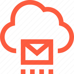 cloud, email, envelope, mail, message, sending, storage icon