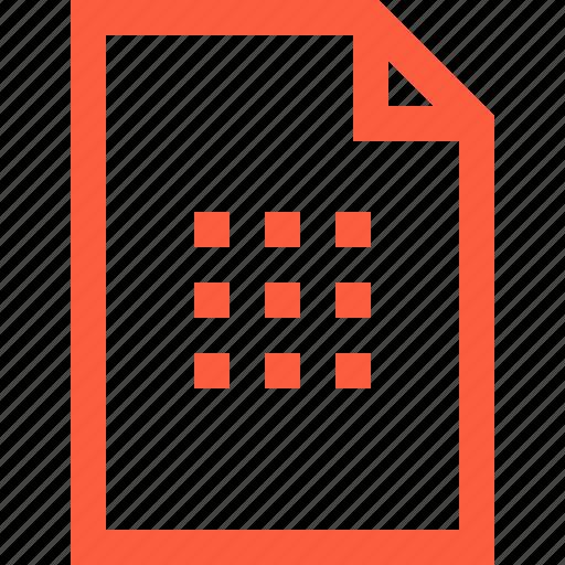 apps, arrangement, blocks, doc, file, grid, scheme icon