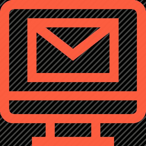 computer, desktop, email, inbox, letter, mail, message icon